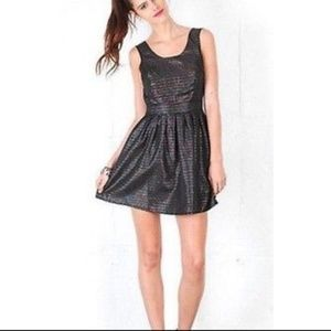 Motel Rocks | iridescent fit & flare dress size S